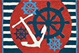Jellybean Anchors Away Ships Wheel Nautical Sailing Area Accent Rug Review