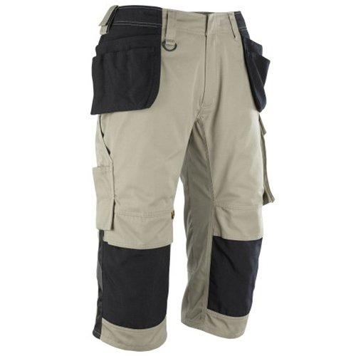 Mascot 14349-442-5509-C64''Lindau'' Craftsmen's ¾ Trousers, C64, Khaki/Black