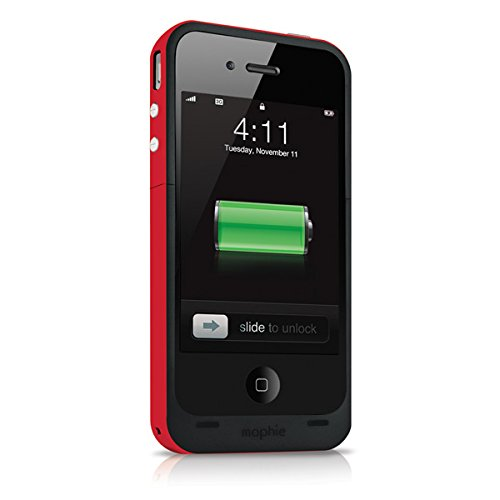 on sale 424d1 0577b Mophie Juice Pack Plus Case For iPhone 4 And 4S - Red