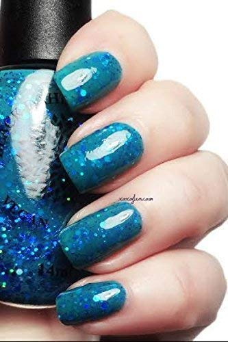Amazon.com: Glass Orchid | Blue Green Jelly Nail Polish with Holo ...