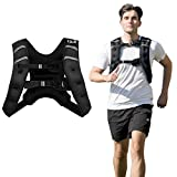 GYMAX Weighted Vest, 12lbs/20lbs Adjustable Weight Vest Workout Equipment Men and Women for Strength Training, Running, Fitness