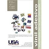Usa Folien 7202, Papel Fotográfico, Inkjet, A4, Vinil Adesivo, Multicor, Pacote de 10