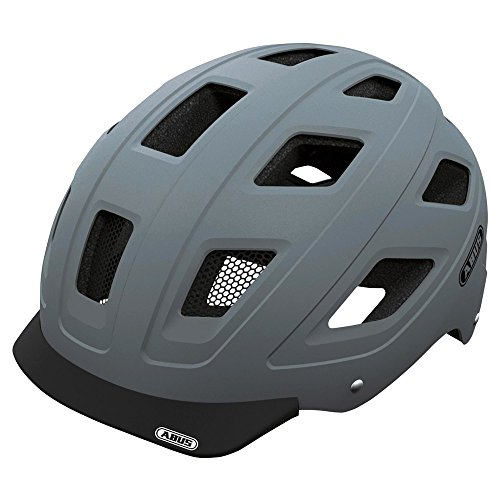 Abus Hyban Urban Helmet with Integrated LED Taillight, Concrete Grey, Medium
