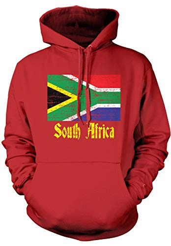 Amdesco Men's South Africa Flag, South African Hooded Sweats