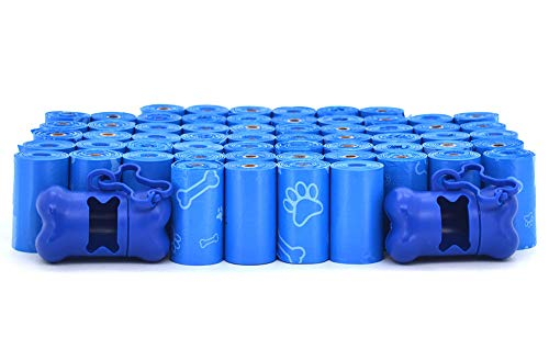 Best Pet Supplies Dog Poop Bags for Waste Refuse Cleanup, Doggy Roll Replacements for Outdoor Puppy Walking and Travel, Leak Proof and Tear Resistant,Thick Plastic-Blue(Unscented), 900 Bags