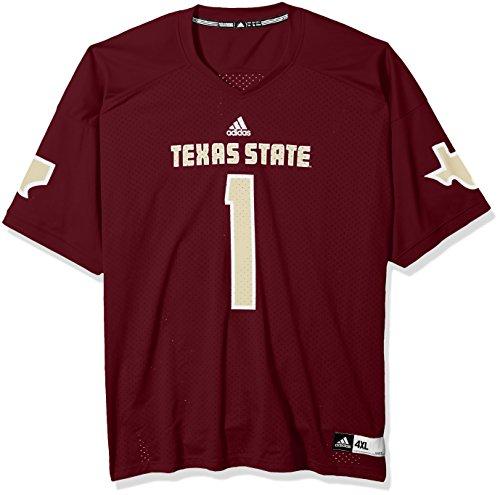 adidas NCAA Texas State Bobcats Adult Men NCAA Replica Football Jersey, X-Large, Maroon ()