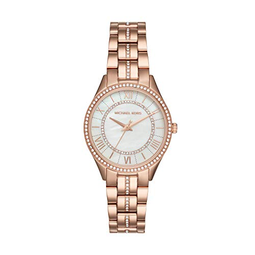 Michael Kors Women's Lauryn Quartz Watch with Stainless-Steel Strap, Rose Gold, 7 (Model: ()