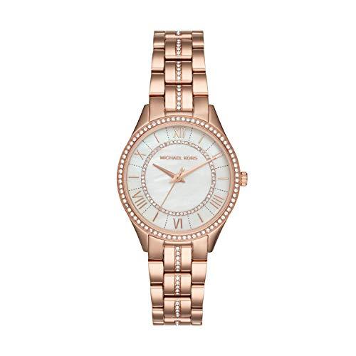 Michael Kors Women's Lauryn Quartz Watch with Stainless-Steel Strap, Rose Gold, 7 (Model: MK3716)