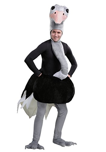 Ostrich Adult Costume Large Black