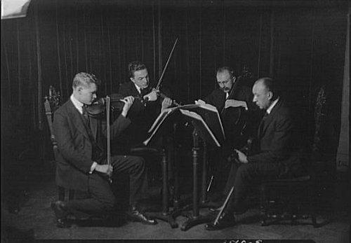 HistoricalFindings Photo: New York String Quartet,Schwab Quartet,Musicians,ensembles,Arnold Genthe,1921