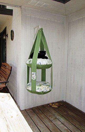 r Garden Double Cat Bed, Kitty Cloud, Hanging Cat Bed, Pet Furniture, Pet Gift, Cat Tree, Cat Lover ()