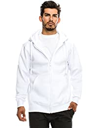 Mens Hipster Hip Hop Basic Unisex Zip-Up Hoodie Jacket (size upto 5XL Big Size)