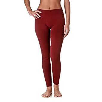 Fashionmic Premium Heavy Weight Fleece Lined Legging - Many Color,free size,Wine Red