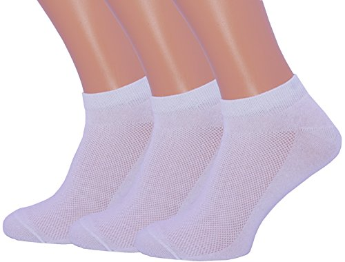 Unisex Ultra Thin Breathable Dry Fit Low Cut Running Ankle Socks 3 Pack (10-13, White) ()