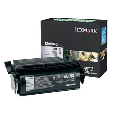 LEXMARK 12A5840 - Lexmark Black Toner Cartridge - Black - Laser - 10000 Page - 1 (Lexmark 1500)