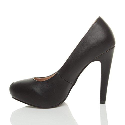 Ajvani, Chaussures À Talons Hauts Pour Femmes, Noir (noir), 40