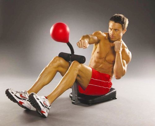 KnockOut Abs® Anti stress speed punching bag with sit up bench for an intense ab workout by KnockoutAbs