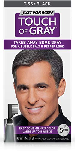 Just For Men Touch Of Gray Hair Color, Black Gray (6 Pack) ()