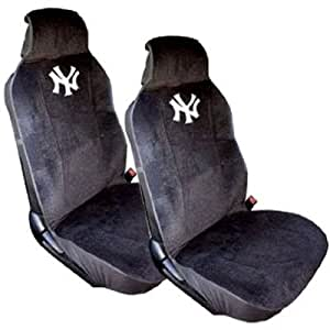 new york yankees front low back car truck suv sideless bucket seat covers pair. Black Bedroom Furniture Sets. Home Design Ideas