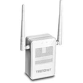 TRENDnet AC1200 WiFi Range Extender, Gigabit Wired Port, Up to 867 Mbps WiFi AC + 300 Mbps WiFi N, TEW-822DRE 22 Extends concurrent WiFi AC and N networks AC1200: 867 Mbps WiFi AC + 300 Mbps WiFi N bands* Extreme speeds for buffer-free 4K / 3D / HD video streaming