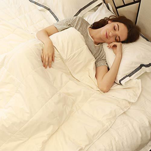 100% Silk Comforter All Season Luxury Silk Duvet with Cotton Covered, Machine Washable, Queen, 88