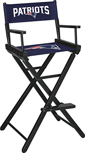 Imperial Officially Licensed NFL Merchandise: Directors Chair (Tall, Bar Height), New England Patriots (New Folding Directors Chair)