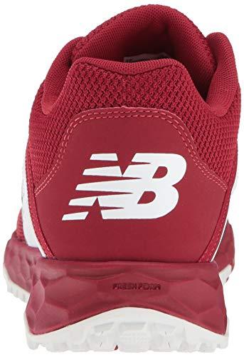 Baseball Turf Balance Shoe New White Men's 3000v4 Maroon fwFqBAP