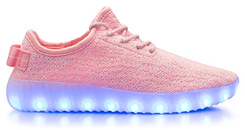 Olivia K Dames Casual Led Light Up Schoenen 7 Kleuren 4 Mode Knipperende Oplaadbare Sportschoenen Roze Multi