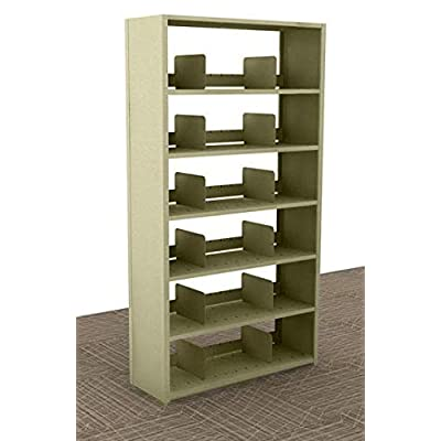 "Amazon.com : Aurora Quik-Lok Shelving Starter Unit, 6 Openings, 76"" Tall, 12"" Letter Size, Mushroom : Office Products"