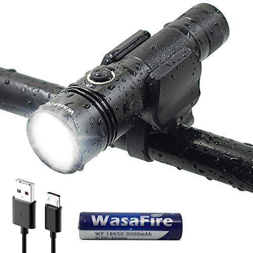 WasaFire Bike Light USB Rechargeable Headlight 1000 Lumens LED Front Bicycle Lights Super Bright Waterproof Road Cycling Safety Flashlight Headlamp for Riders Review