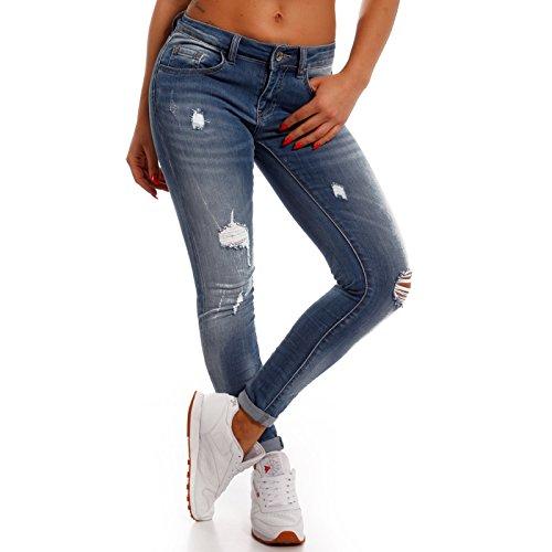 Mujer Básico Fashion vaquero para Young Vaqueros Skinny azul BSwxqv