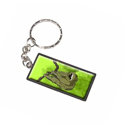 Graphics And More Sloth Watercolor Keychain Ring (K6013) - 2012-06-26