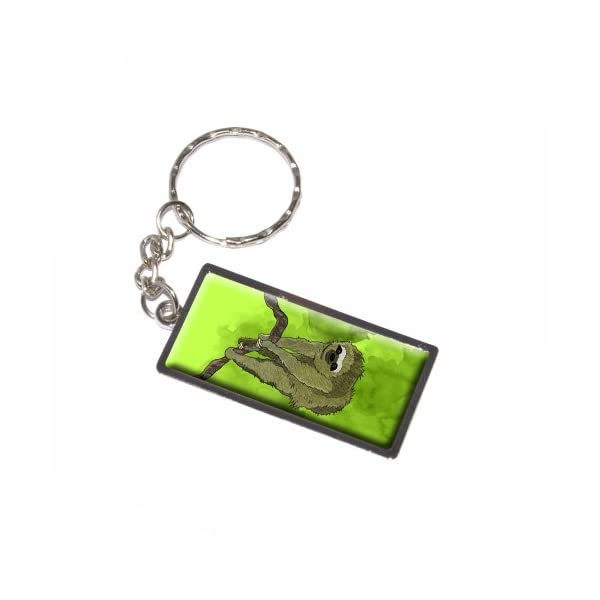 Graphics And More Sloth Watercolor Keychain Ring (K6013) -
