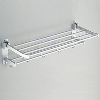 Storage Rack Bathroom Rack Shower Caddy Corner Shelf Organizer Wall Mount Towel Holder, Material Aluminum Alloy, Multi layer Polished Surface