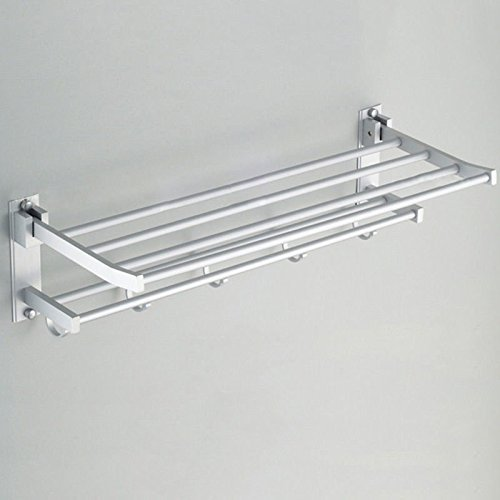 Storage Rack Bathroom Rack Shower Caddy Corner Shelf Organizer Wall Mount Towel Holder, Material Aluminum Alloy, Multi layer Polished Surface ()