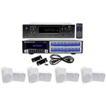 """Technical Pro 6000w 6 Zone Home Theater Bluetooth Receiver+8 6.5"""" Speakers+EQ"""