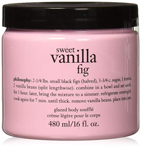 Figs Glazed - Philosophy Sweet Vanilla Fig Glazed Body Soufflle 16 fl. oz