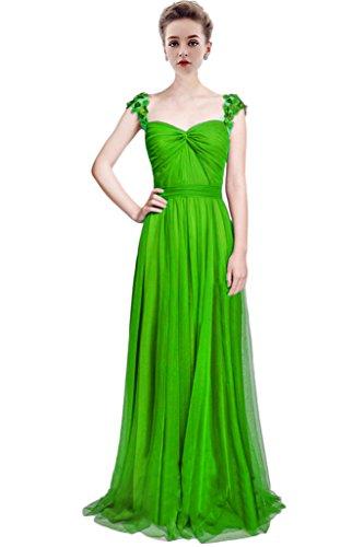 Green Mujer Vimans Bright Para Trapecio Vestido X1AAx4wf