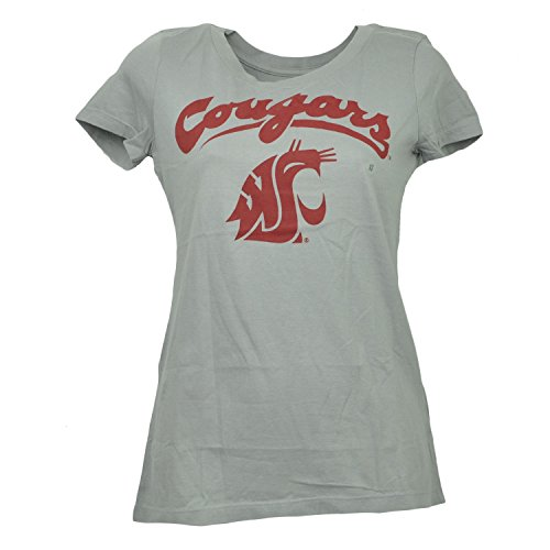 NCAA Washington State Cougars Crew Neck XSmall Tshirt Tee Womens Short (Washington State University Clothing)