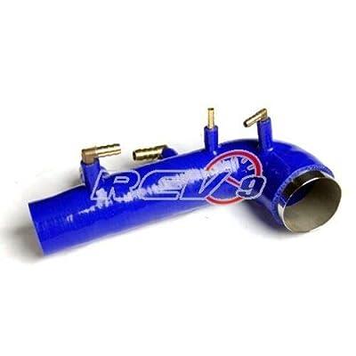 REV9 BLUE FOR 02-07/WRX 04-14 STI EJ20 EJ25 TURBO INLET SILICONE DIRECT BOLT ON: Automotive