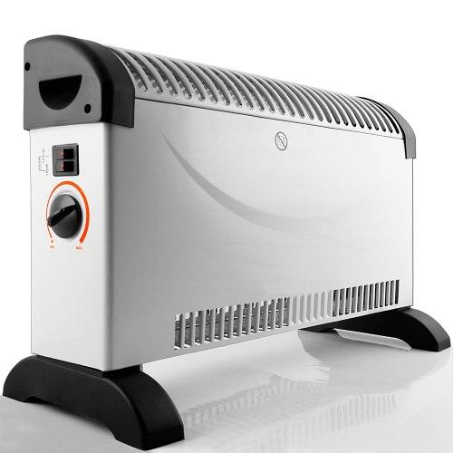 Heizgerät mit Frostwächter stufenloser Thermosteuerung 2000W Konvektor Heizer Radiator Heater Elektrische Heizung Elektroheizung