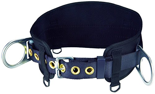 Belt with Hip Pad, 2 D-Rings, Medium/Large, 1091014 (Safety Harness Belt)