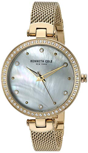 Kenneth Cole New York Female Analog-Quartz Watch with Stainless-Steel Strap, Gold, 9.8 (Model: KC50541003)