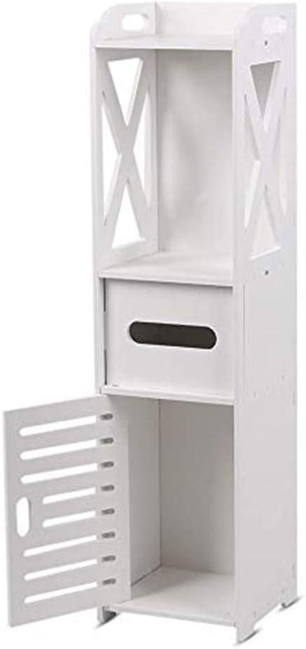Small Bathroom Storage Corner Floor Cabinet With Doors And Shelves Thin Toilet Vanity Cabinet Narrow Bath Sink Organizer Towel Storage Shelf For Paper Holder White Price In Uae Amazon Uae Kanbkam
