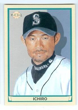 2003 All Star Baseball Ball - Ichiro Suzuki baseball card (Seattle Mariners All Star) 2003 Upper Deck #63 Play Ball
