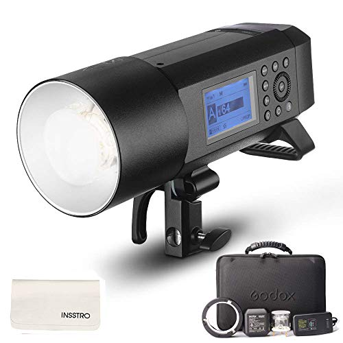 Godox AD400Pro All-in-one Outdoor Flash Strobe Battery-Powered Monolight with TTL HSS 2.4GHz X Wireless Remote System (Support Various Accessories by Different Adapter Ring) ()