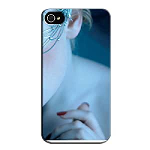 Shock Absorption Beauty In Blue For Iphone 4 Beauty In Blue Navy TPU Protective Case