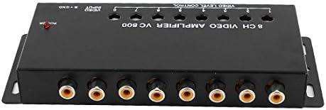 uxcell 8チャンネルRCAビデオブースター 8ゲインコントロールビデオブースター 調整可能 ブラック