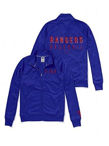 Victoria's Secret Pink Texas Rangers Track Jacket Medium Blue
