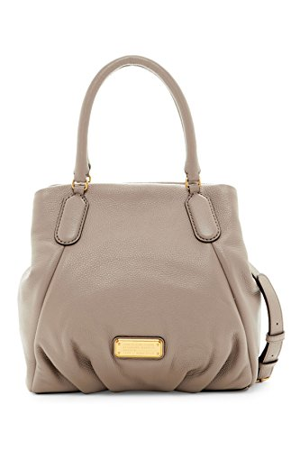 Marc by Marc Jacobs New Q Fran Shoulder Bag (Cement) (Marc By Marc Jacobs Classic Q Baby Groovee)